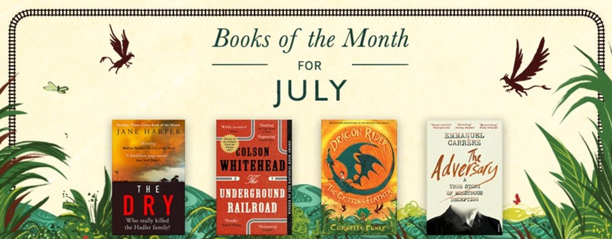 waterstones july books